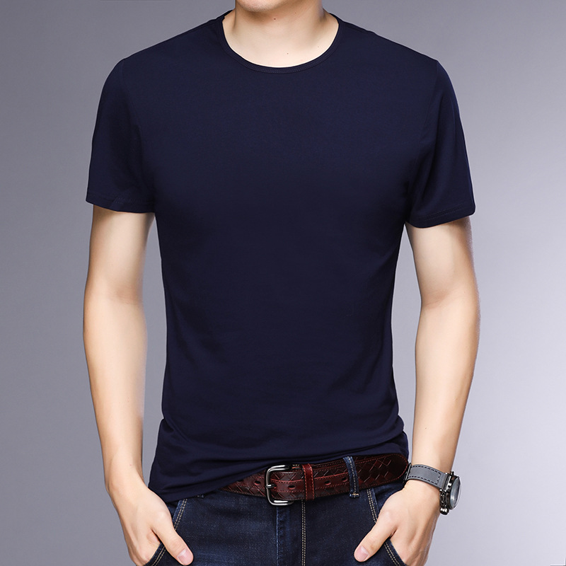 T-shirt homme - Col rond - Ref 3409000 Image 1