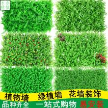 仿真植物墙绿植背景墙米兰塑料假草坪墙门头室内装饰植物花墙批发