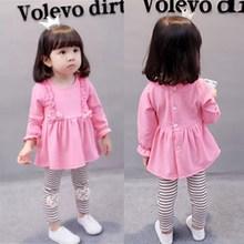 女童0小童洋气1女宝宝2衣服3岁版春装套装公主时尚春秋婴儿童潮