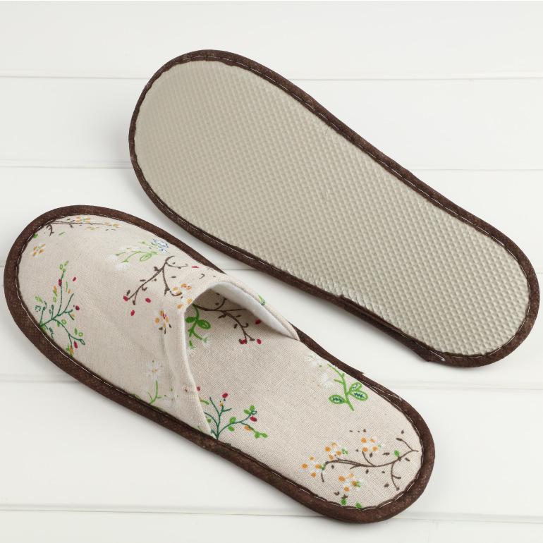 返璞归真精品主题民宿客栈客房用一次性麻布拖鞋定制水洗布酒店