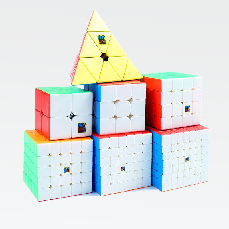魔域文化魅龙3二三四五阶魔方实色金字塔智力地摊玩具货源