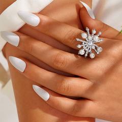 R fashion creative drop-shaped diamond ring set heart-shaped ring 13-piece NHNZ177396