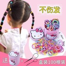 兒童扎頭發橡皮筋發圈頭繩不傷發公主寶寶發飾小女孩發繩卡通頭飾