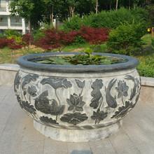 专业雕刻制作仿古石雕  仿古青石石雕  仿古花缸 鱼缸拴马庄