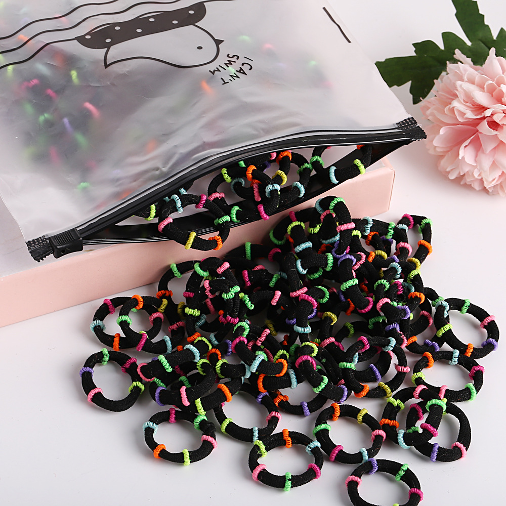 Simple bag high elastic hair accessories seamless candy color hair ring set girl rubber band children's head rope NHPJ175357
