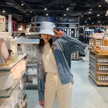 2019春季新款氣質格子寬松V領針織開衫毛衣外套女短款長袖可代發