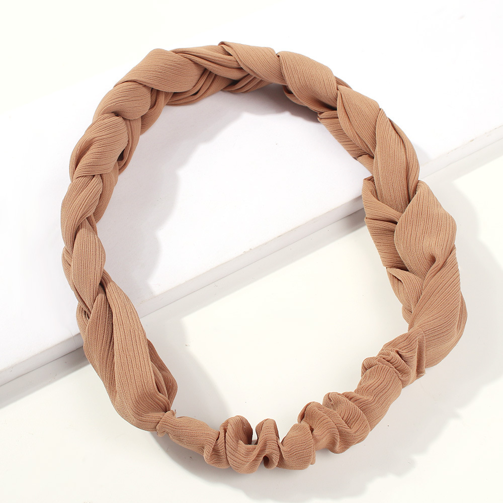 Twisted hair band with elastic wide-brimmed headband NHMD150995