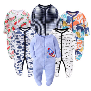 Factory wholesale baby romper baby romper baby jumpsuit foot wrap romper newborn spring and autumn romper