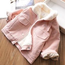 包邮韩版仿兔毛夹克冬季新款宝宝洋气宽松加厚外套儿童外套19151
