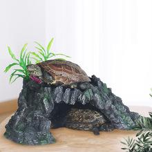 乌龟晒台大小爬台巴西鳄龟晒背台宠物爬坡躲避屋鱼缸造景浮台浮岛