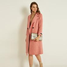 双面羊绒大衣女秋冬2019新款韩版休闲宽松长袖中长款女式毛呢外套