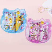 工厂直销批发定制学习文具组合套装儿童可爱卡通8件套小学生礼品