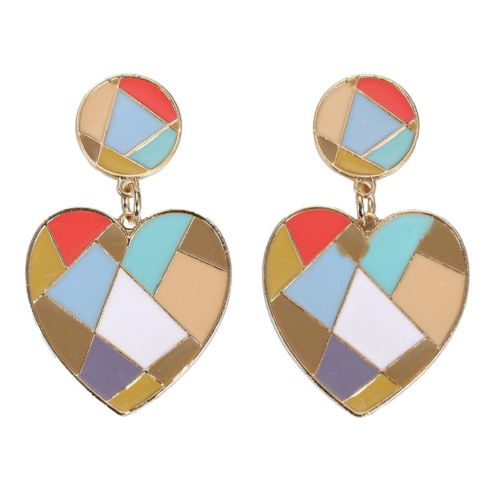 Womens Geometric Rhinestone Earrings NHJQ122831