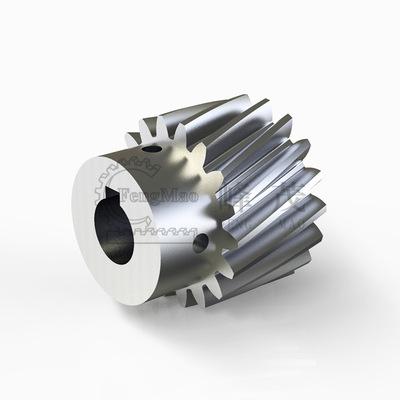 加工定做斜齿轮16Mn带凸台圆柱斜齿轮制造厂家直销台湾峰茂齿轮厂