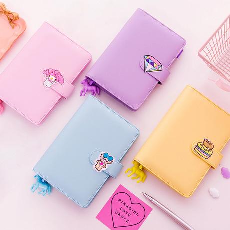 Hàn Quốc ins Pink girl trái tim cuốn sách tay cuốn sách lá cuốn sách sáng tạo dễ thương cuốn nhật ký