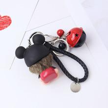 蒙奇奇鈴鐺禮品扣約63.5g/個卡通女禮品搪膠創意汽車皮繩包包搪膠