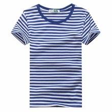 夏季男士短袖条纹t恤海魂衫男水手服学院风情侣装圆领海军衫