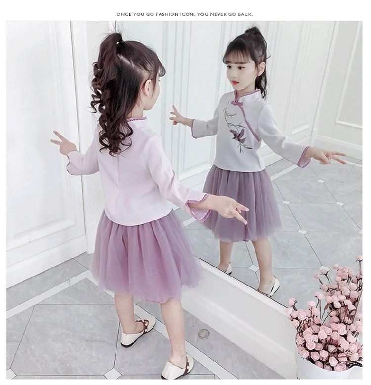 汉服女童中国风春装宝宝套装儿童唐装民族风2020新款公主裙两件套