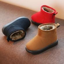 ^儿童棉鞋女童2018新款短靴冬季宝宝雪地靴加绒男童冬天防水鞋靴