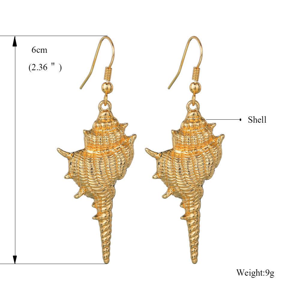 Womens Conch Plating Alloy Earrings NHBQ126322