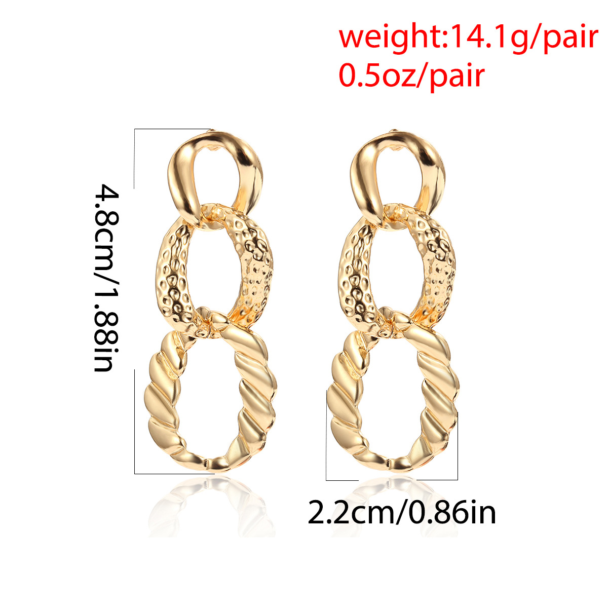 Alloy Simple Geometric earring  (Alloy 1360)  Fashion Jewelry NHXR2777-Alloy-1360