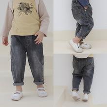 原创童装秋款2019韩版童裤男童长裤新款儿童秋装中小童牛仔裤