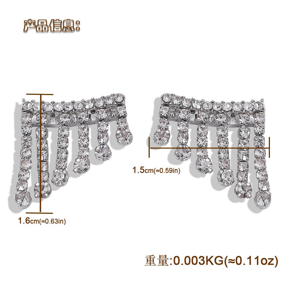 Alloy diamond earrings fashion dress accessories atmospheric earring jewelry NHJQ182952