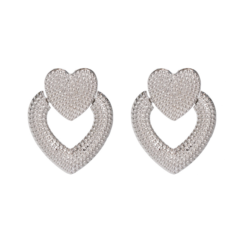 Alloy Fashion Sweetheart earring  (red)  Fashion Jewelry NHJJ5611-red