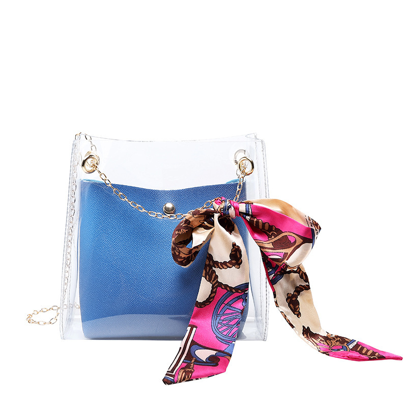 Foreign Trade Jelly Bag 2019 Japan And South Korea Wind Chain Shoulder Bag Fashion Scarf Scarf Bag Slung Shoulder Bucket Pouch