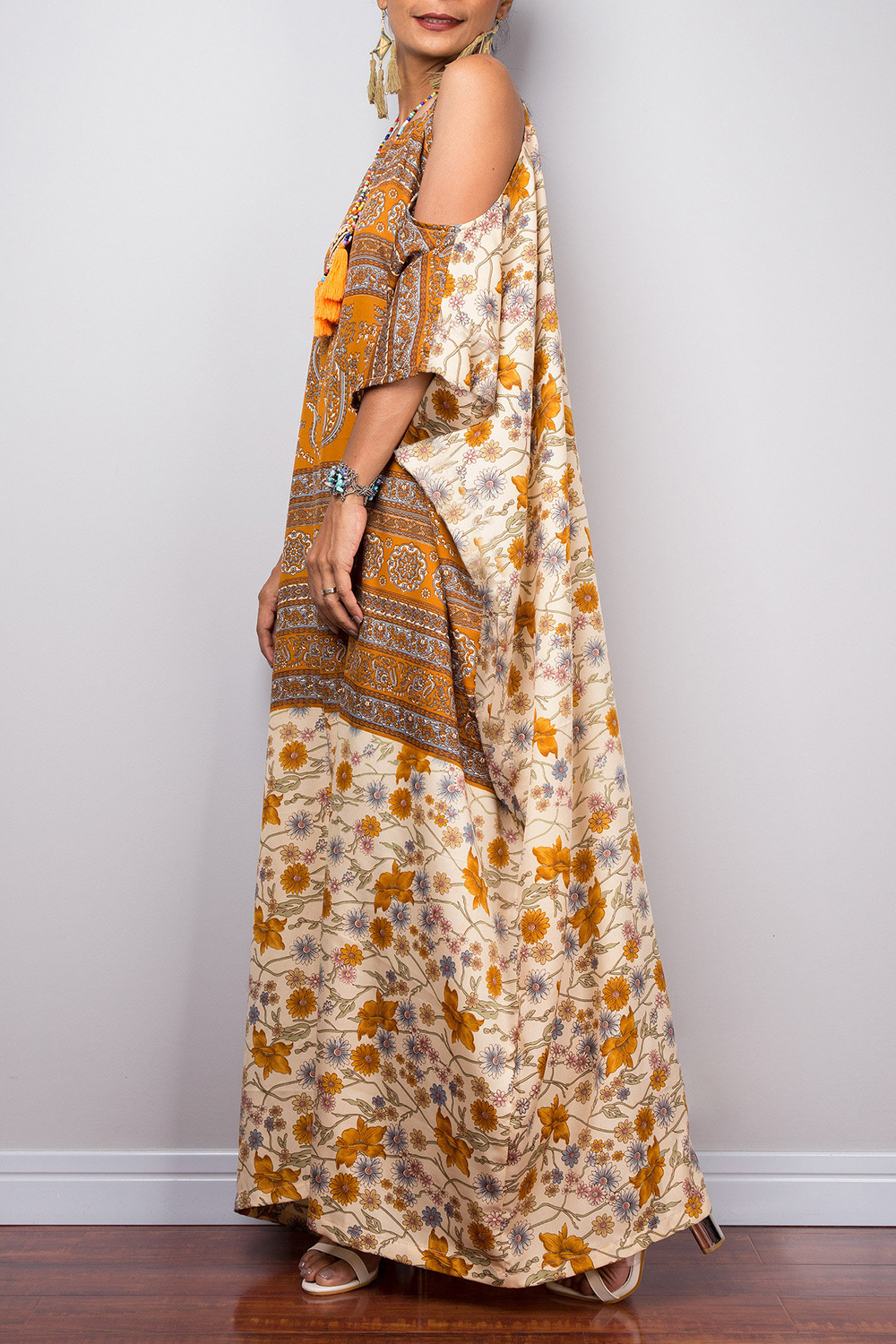 Summer season off-the-shoulder style robes sling ethnic dress NHDF121794