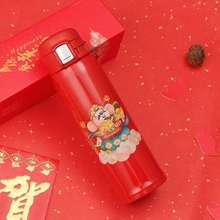 2020开门红鼠来宝红色新款弹跳杯不锈钢保温杯子广告礼品水杯定制