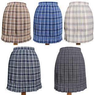 New plaid uniform pleated skirt Orthodox JK uniform skirt student high waist plaid Japanese pleated skirt pleated skirt