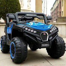 新款兒童電動汽車帶遙控可坐女孩男孩大人雙人大四輪充電越野車