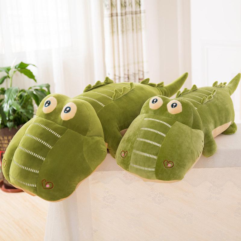 创意款极软鳄鱼毛绒玩具大号创意软体羽绒棉卡通可爱鳄鱼玩偶公仔