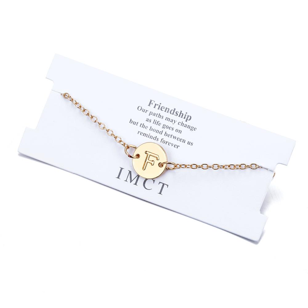 New fashion round 26 letter alloy bracelet NHPF157834