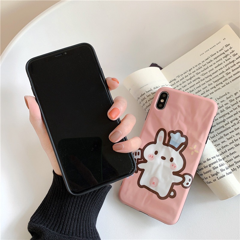 Cartoon chef bear Huawei P30pro mobile phone case creative origami soft phone case  for apple xs max/8plus NHFI237447