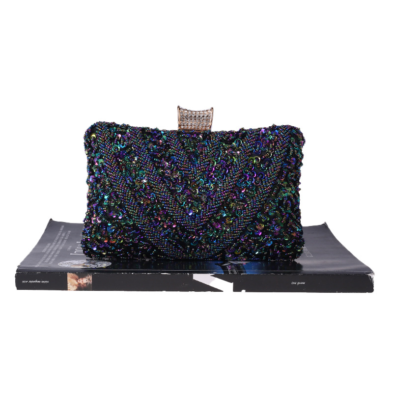European and American hand-made artificial gemstone banquet bag NHYG154184