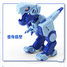 小恐龙模型玩具 变形方块恐龙玩具儿童益智互动变形玩具跨境热销