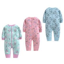 19年新款嬰兒連體衣純棉單層連身衣寶寶哈衣新生兒爬服嬰幼兒哈衣