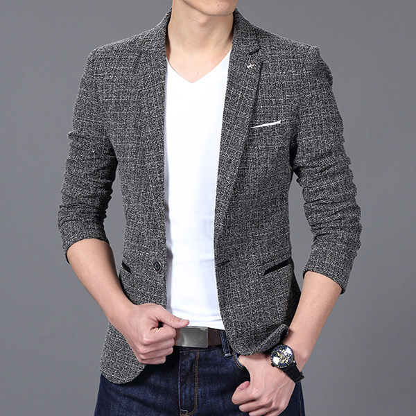 Men's casual British style blazer and suit