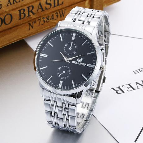 WISH hot sale đồng hồ vàng Orendo ORLANDO đồng hồ đeo tay ba dây thép thạch anh thời trang đồng hồ thời trang