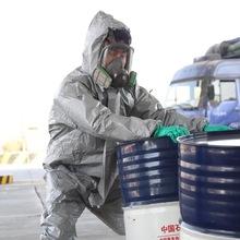 杜邦TychemF级酸碱有机化学品防护服 实验化工溶剂阻燃隔离服