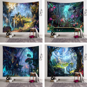 Wall hanging wall decor Bedside dormitory wall decoration tapestry background cloth hanging cloth fairy tale world canvas