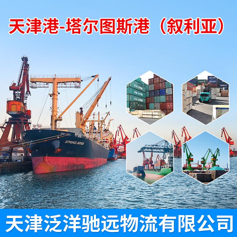 供应CSAV船天津港到塔尔图斯 地中海货代服务国际海运