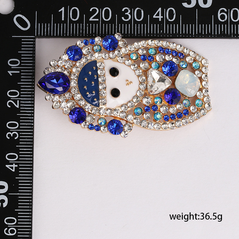 Hot sale doll blue diamond stud earrings elegant women's jewelry earrings jewelry NHJJ190980