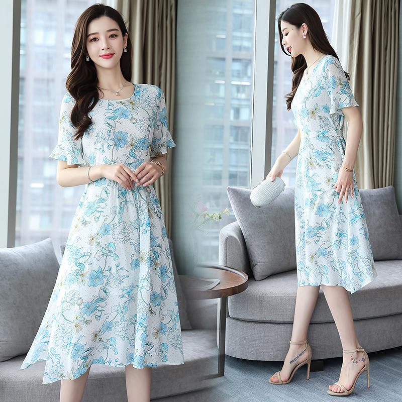 新款真絲連衣裙韓版女裝夏創意款 亞馬遜爆款現貨網店代理 91541