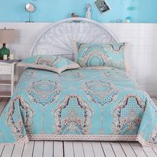 老粗布床单加厚纯棉单件炕单全棉三件套被单双人1.5/1.8m2米床