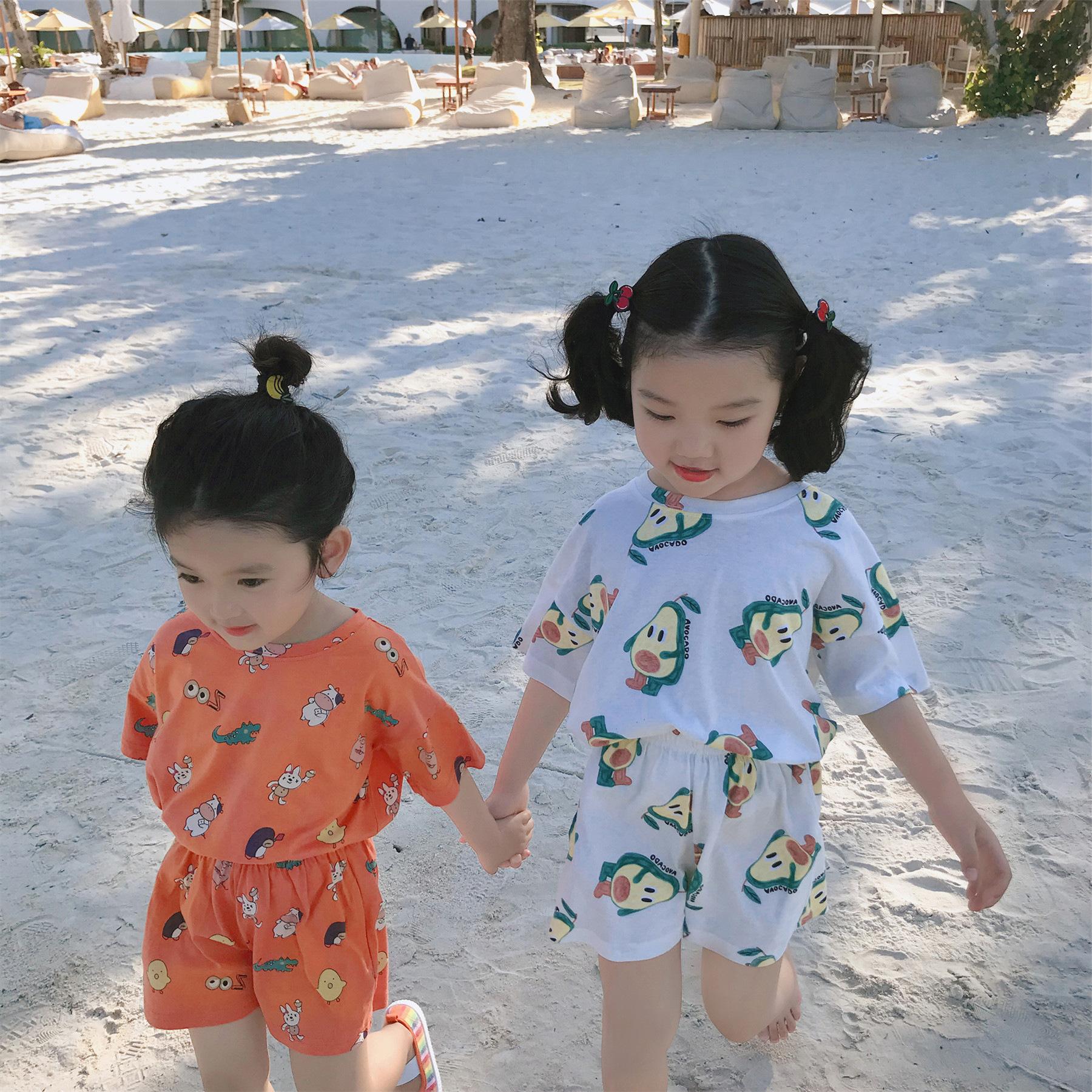 29.99包邮!女童短袖t恤套装纯棉洋气儿童两件套