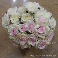 仿真花 婚庆花束玫瑰 手捧花珍珠玫瑰 小朵胸花厂家直销多色
