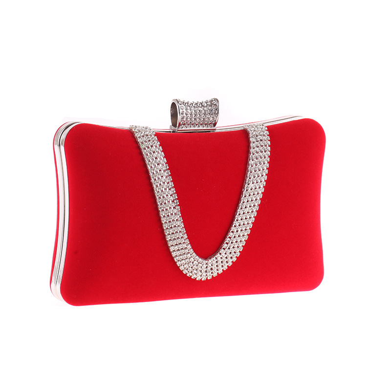 Fashionable Women's Bags With Diamond Fingers Evening Banquet Bags U-Flannel Bags NHYG183016